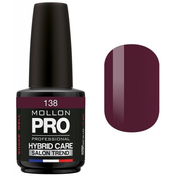 Vernis Semi-permanent Hybrid Care Mollon Pro 15ml Bernadette - 138