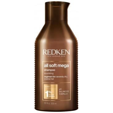 Shampooing ultra nourrissant cheveux très secs All Soft Mega Redken 300ML