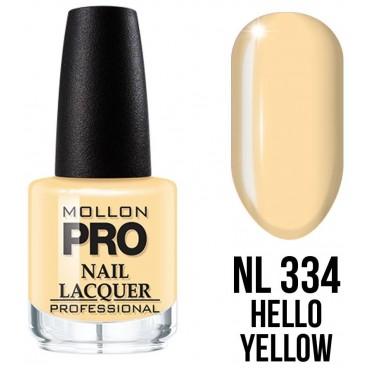 Vernis classique n°334 Hello Yellow Mollon Pro 15ML