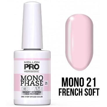 Vernis Monophase n°21 French Soft uv/led Mollon Pro 10ML