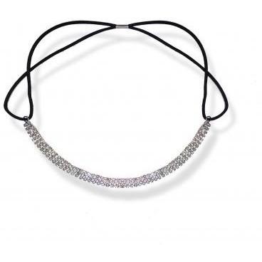 White Crystal Headband Stella Green