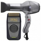 Gammapiù Barber Pack - Absolut Zero Trimmer + Barber Titanium Hair Dryer
