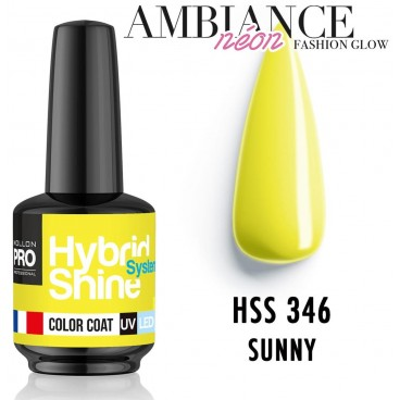 Mini barniz semipermanente Hybrid Shine n ° 343 Fluffy Mollon Pro 8ML