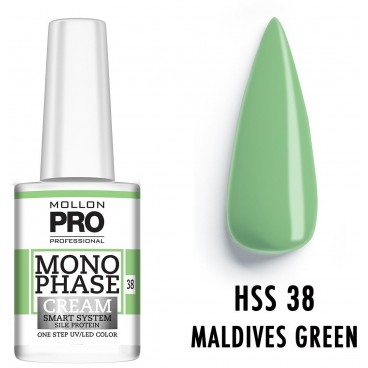 Vernis Monophase n°38 Maldives Green uv/led Mollon Pro 10ML