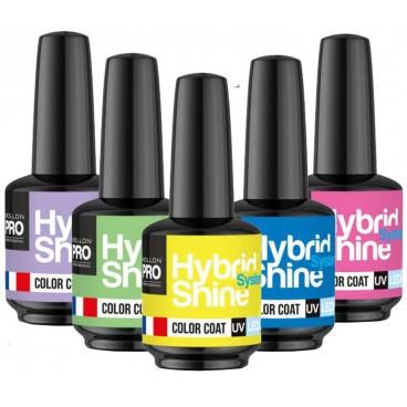 Mini vernis semi-permanent Hybrid Shine collection Ambiance Néon Mollon Pro