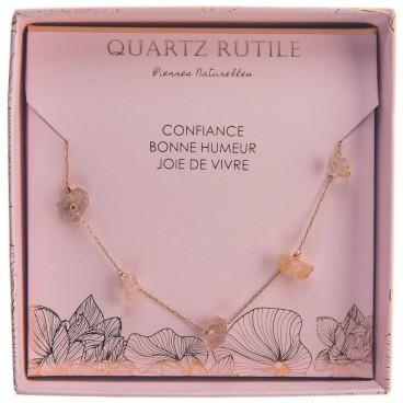 Collier quartz rutile Stella Green