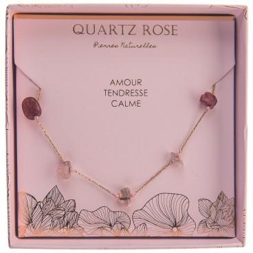 Collier quartz rose Stella Green