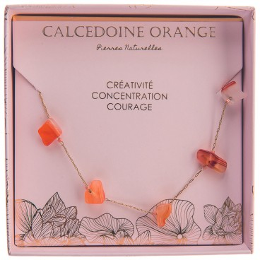 Collier calcedoine orange Stella Green