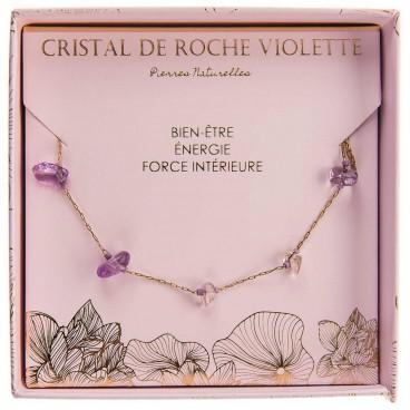 Collier cristal deroche violet Stella Green