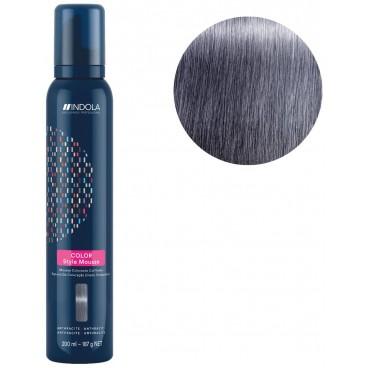 Mousse colorante per capelli grigio antracite Indola 200ML