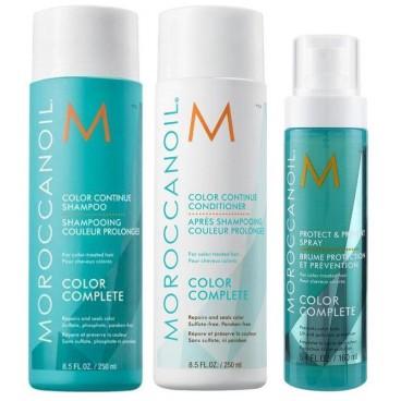 Trio Couleur : Shampooing 250 ml + Conditionneur 250 ml + Spray 160 ml Moroccanoil