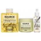 Pack shampooing Fleur d'Acacia et Essence d'Aloé + baume + huile Source Essentielle