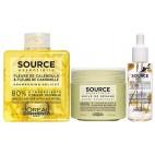 Pack shampooing Calendula et Fleur de Camomille + baume + huile Source Essentielle