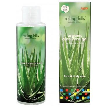 Gel d'Aloe Vera certifié Bio soin du corps et visage Rolling Hills